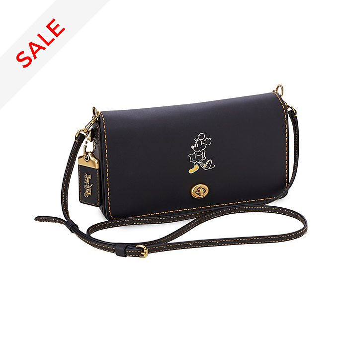 COACH Minnie Mouse Dinky Leather Crossbody Bag