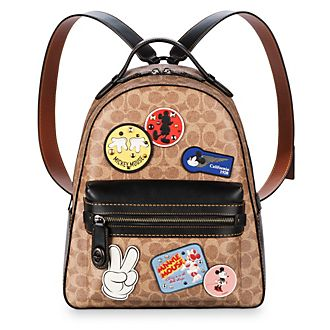 COACH Mickey Mouse Patch Campus Backpack