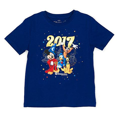 T-shirt marine pour enfants avec logo Disneyland Paris 2017