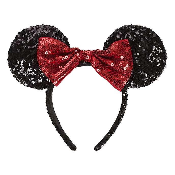 Disneyland Paris Minnie Mouse Sequined Ear Headband for Adults