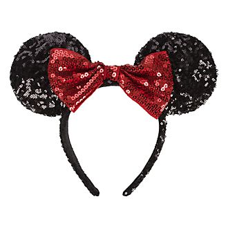 Serre-tête oreille·à sequins Minnie Mouse pour adultes Disneyland Paris