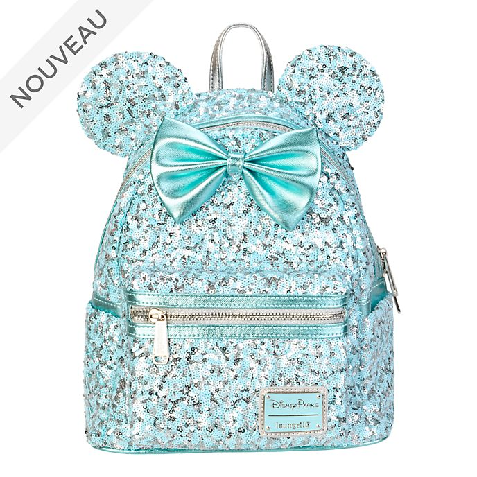 Loungefly Mini sac à dos Minnie à sequins Aqua Arendelle