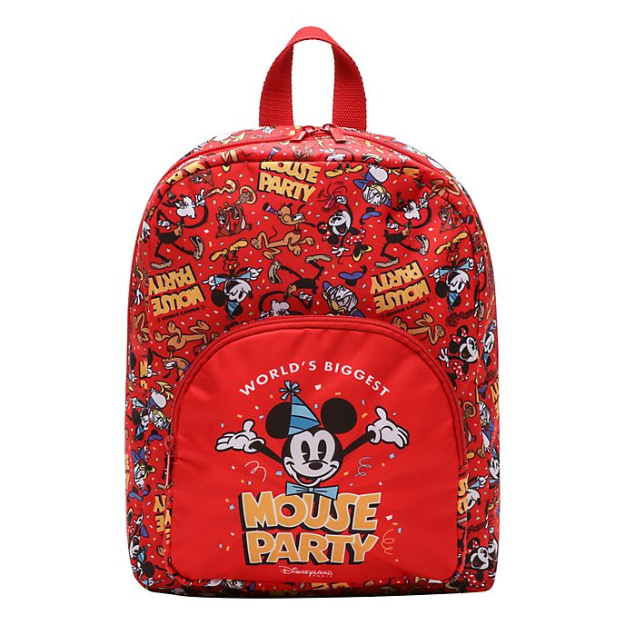 Disneyland Paris Mickey Mouse Red Backpack