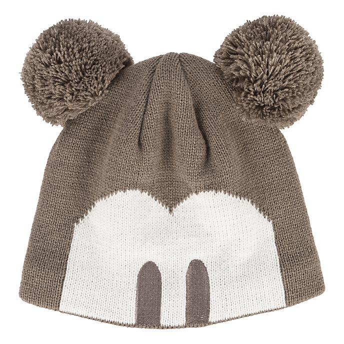 Disneyland Paris Mickey Mouse Pom Ears Beanie Hat for Adults