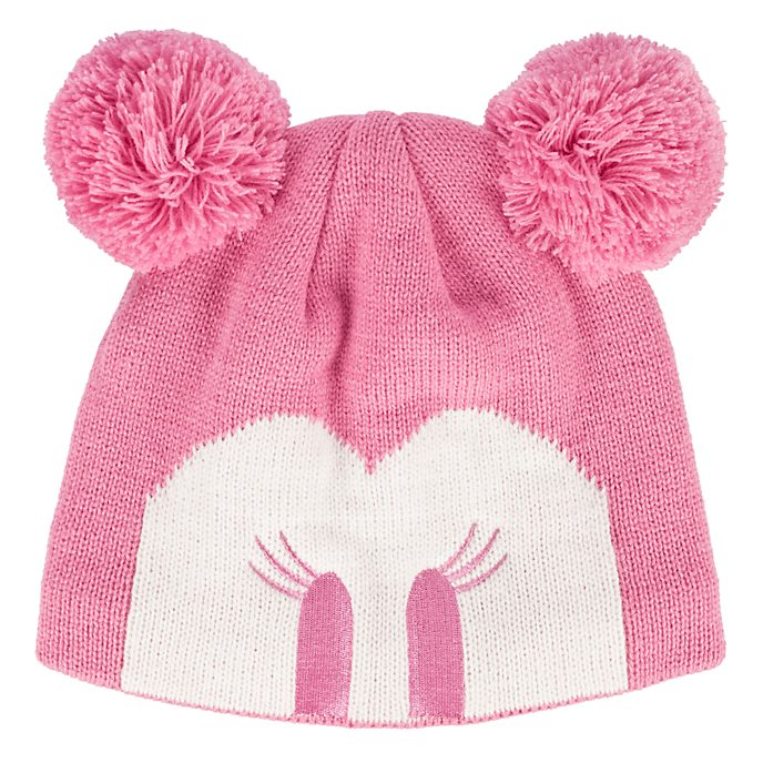 Disneyland Paris Minnie Mouse Pom Ears Beanie Hat for Adults