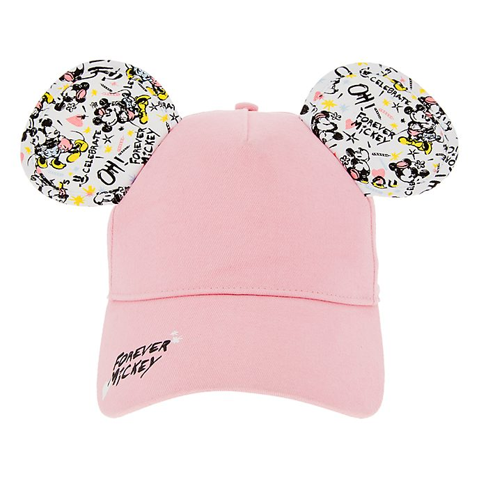 Disneyland Paris Mickey and Minnie Pink Cap For Adults