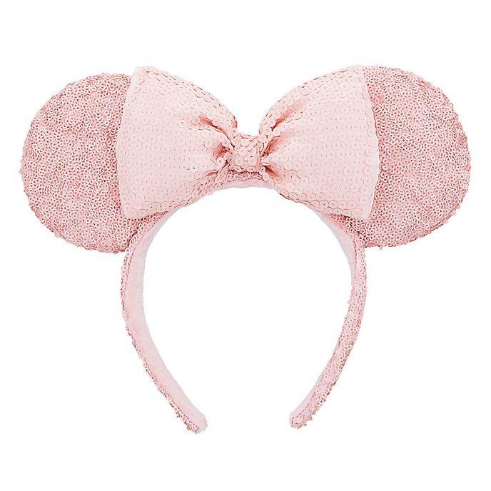 Disneyland Paris Serre-tête oreilles de Minnie Mouse rose avec sequins