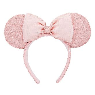 Disneyland Paris Minnie Mouse Pink Sequined Ear Headband