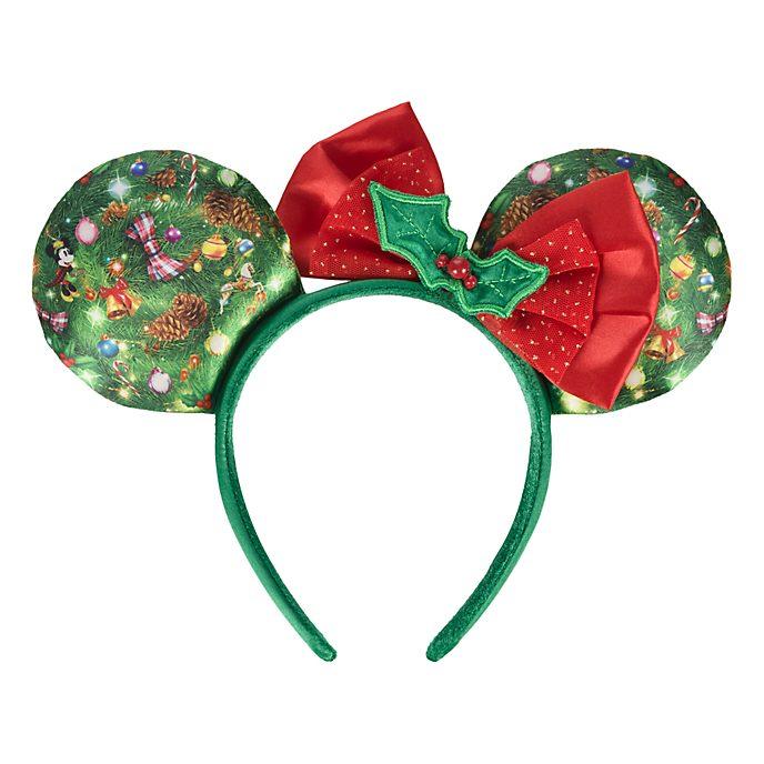 Disneyland Paris Minnie Mouse Holly Ear Headband