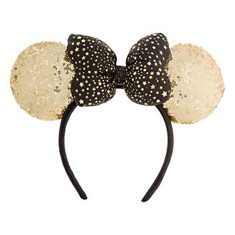 Disneyland Paris Minnie Mouse Gold Sequin Ears Headband
