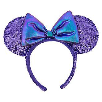 Disneyland Paris Serre-tête oreilles de Minnie Mouse violet avec sequins