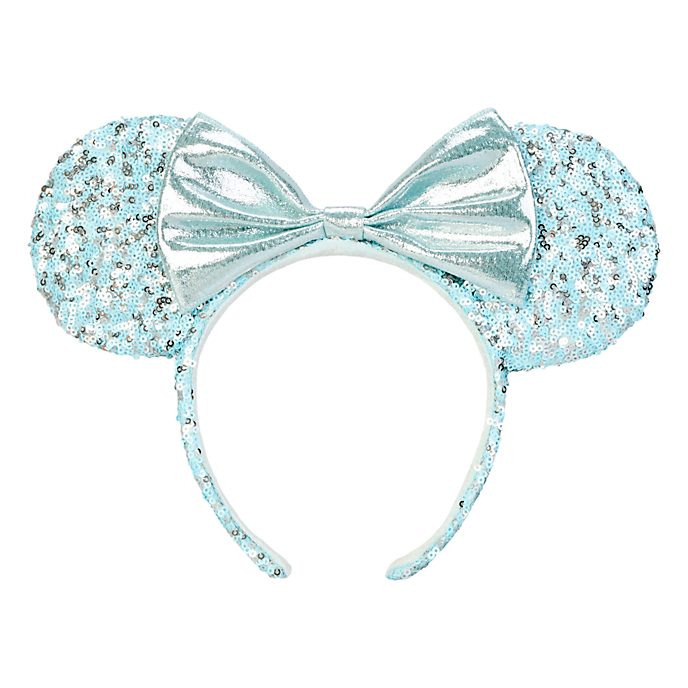 Disneyland Paris Minnie Mouse Aqua Arendelle Ears Headband for Adults