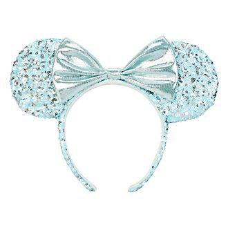 Disneyland Paris Minnie Mouse Aqua Arendelle Ears Headband for Adults