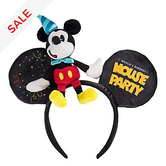 Disneyland Paris Mickey Mouse Party Ears Headband For Adults