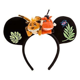 Disneyland Paris Timon and Pumbaa Ears Headband For Adults, The Lion King
