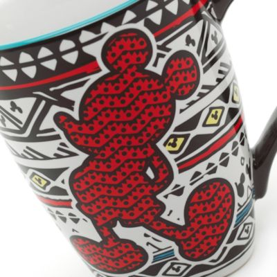 Mickey Mouse Patterned Mug, Disneyland Paris Tribal Collection