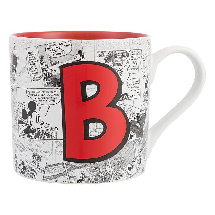 Disneyland Paris Mickey Mouse Vintage Artwork Mug - Letter B