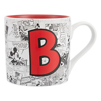 Disneyland Paris Mickey Mouse Vintage Artwork Mug - Letter B