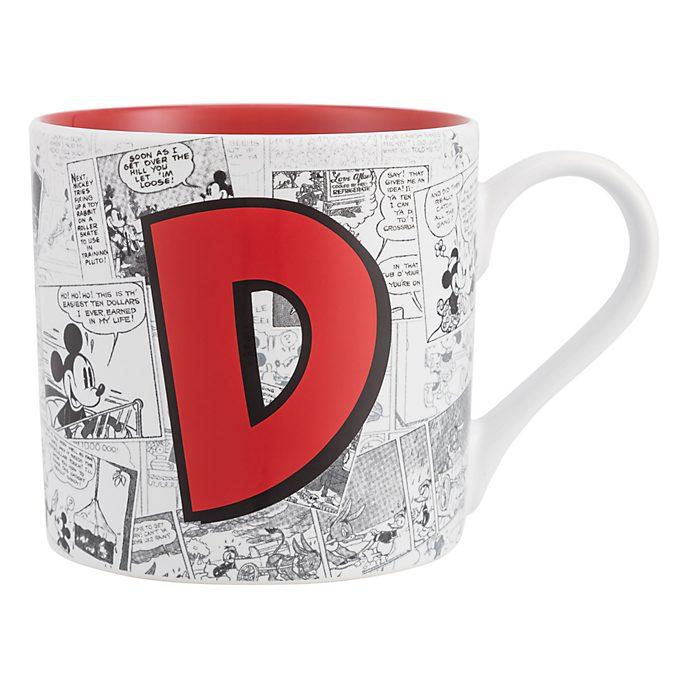 Disneyland Paris Mickey Mouse Vintage Artwork Mug - Letter D