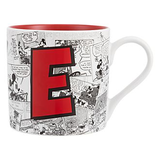 Disneyland Paris Mickey Mouse Vintage Artwork Mug - Letter E