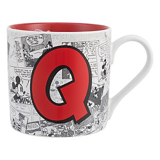 Disneyland Paris Mickey Mouse Vintage Artwork Mug - Letter Q