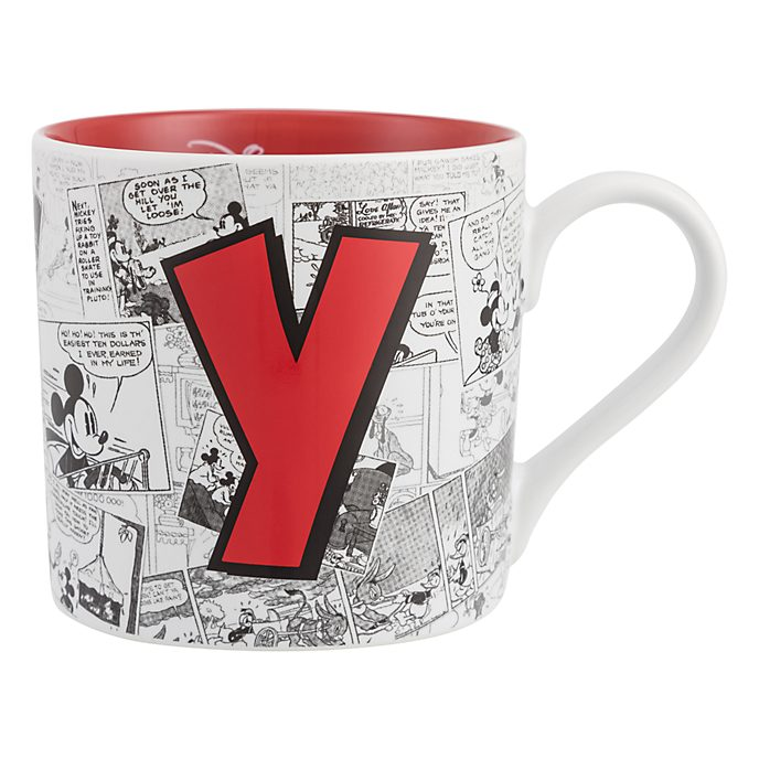 Disneyland Paris Mickey Mouse Vintage Artwork Mug - Letter Y