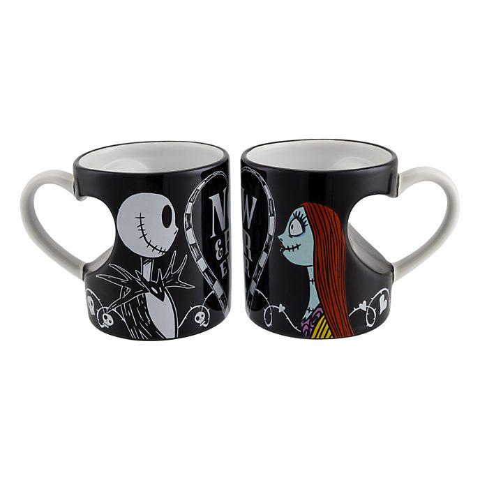 Disneyland Paris Jack and Sally Couple Mug Set
