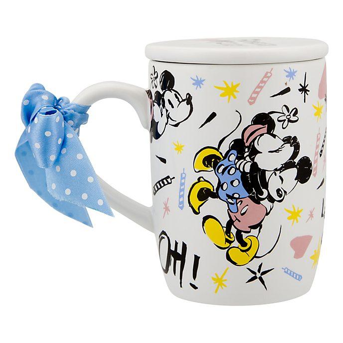 Disneyland Paris Mickey and Minnie Mug with Lid