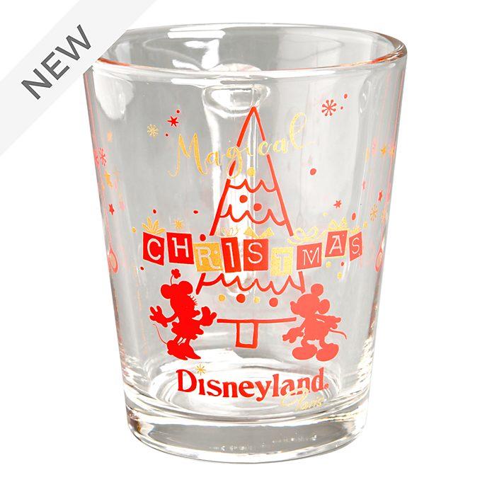 Disneyland Paris Mickey and Minnie Christmas Glass Mug
