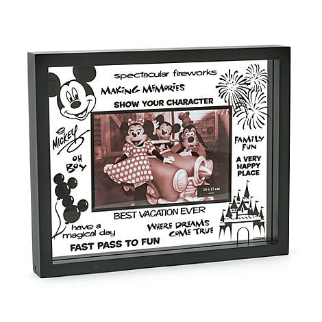 Disneyland Paris Mickey Mouse Glass Photo Frame
