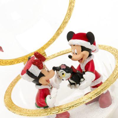 Décoration de Noël en verre Mickey et Minnie, Disneyland Paris