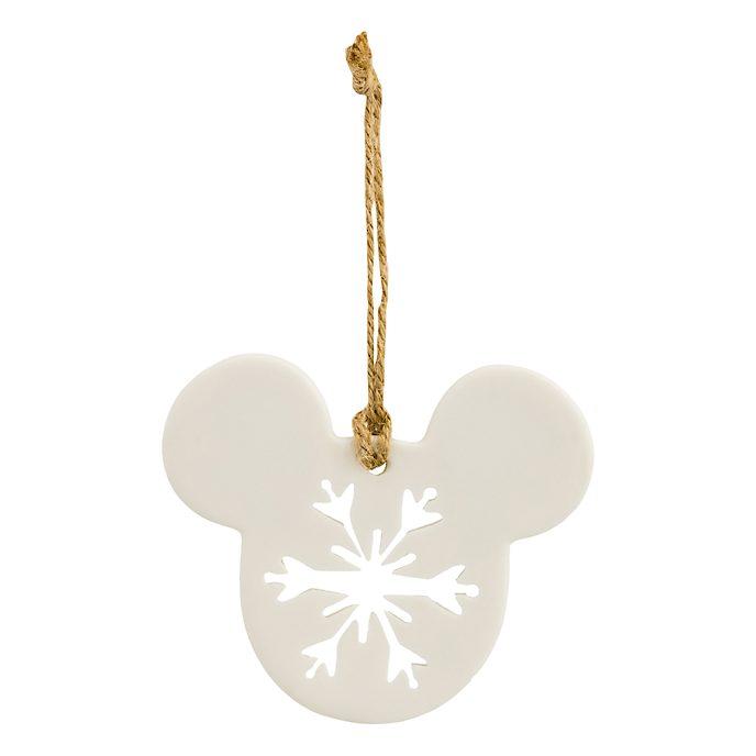Disneyland Paris Mickey Mouse Icon Snowflake Porcelain Ornament
