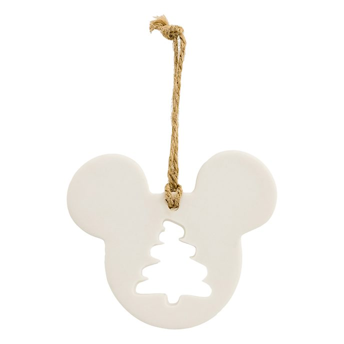 Disneyland Paris Mickey Mouse Icon Christmas Tree Porcelain Ornament