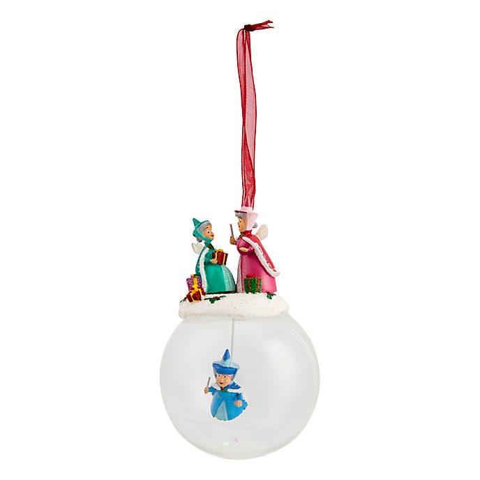Boule de Noël en verre 3fées Disneyland Paris