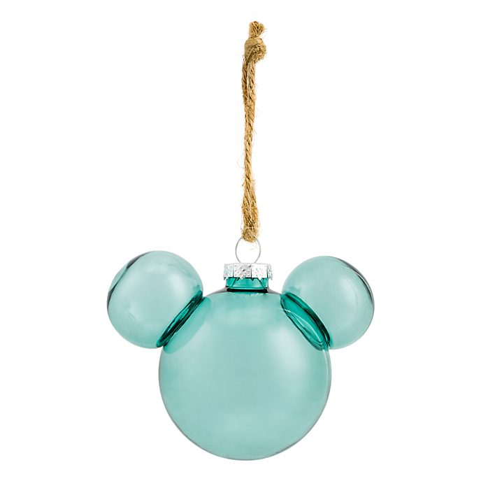 Disneyland Paris Mickey Mouse Icon Glass Bauble - Foret Verte Translucent