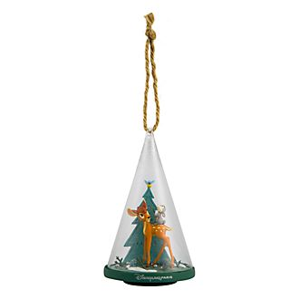 Disneyland Paris Bambi & Thumper Glass Cone Ornament