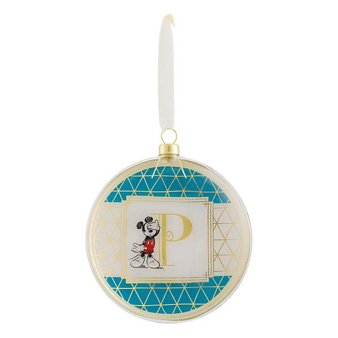 Disneyland Paris Hanging Ornament - Letter P