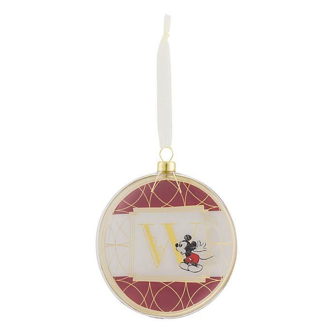 Disneyland Paris Hanging Ornament - Letter W