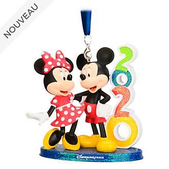 Disneyland Paris Ornement Mickey et Minnie2020à suspendre