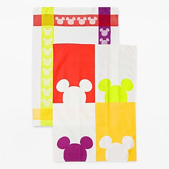 Disneyland Paris Mickey Color Tea Towel Set