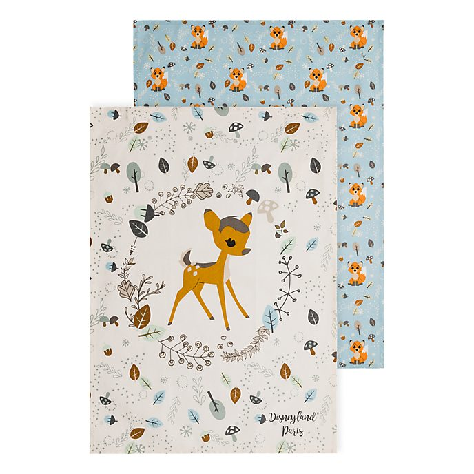 Disneyland Paris Bambi and The Fox and the Hound Tea Towels
