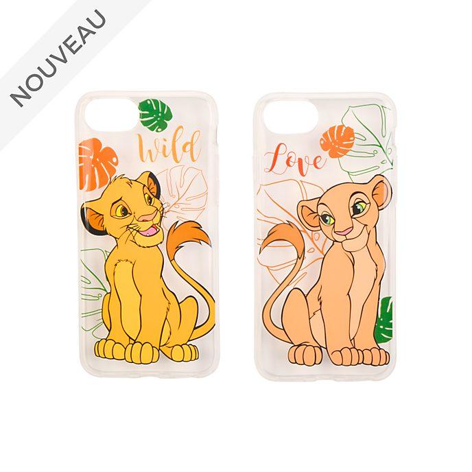 Disneyland Paris Lot de coques pour iPhone pour les amoureux Simba et Nala