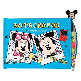 Disneyland Paris Mickey and Minnie Autograph Book and Pen