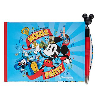 Disneyland Paris Mickey Mouse Autograph Book and Pen Set