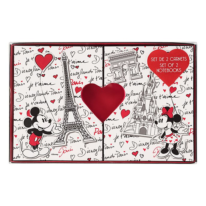 Lot de 2 carnets Paris Mon Amour Disneyland Paris