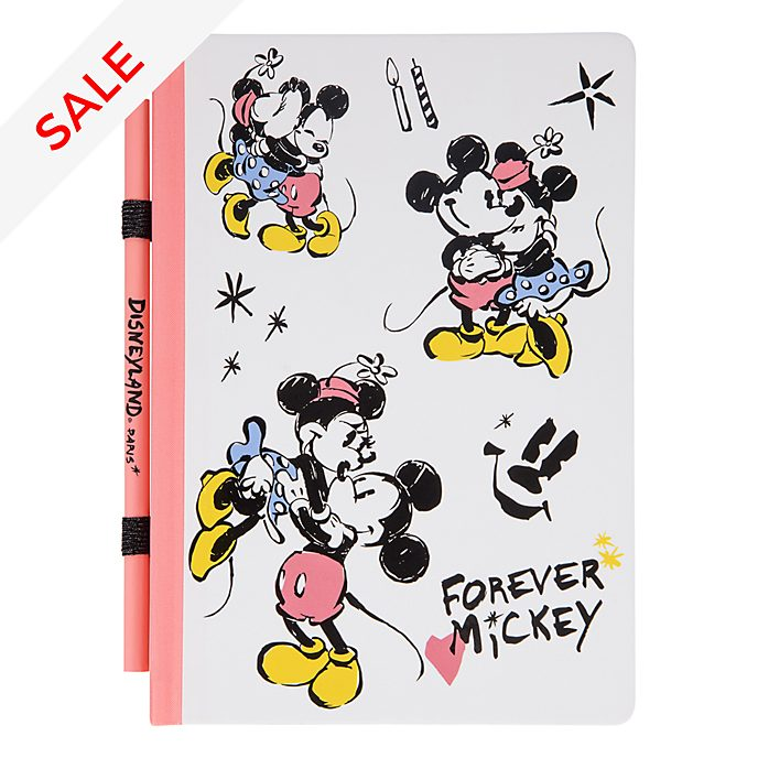 Disneyland Paris Mickey and Minnie A5 Notebook With Pencil