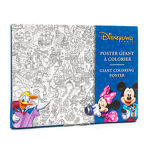 Disneyland Paris Colouring Poster