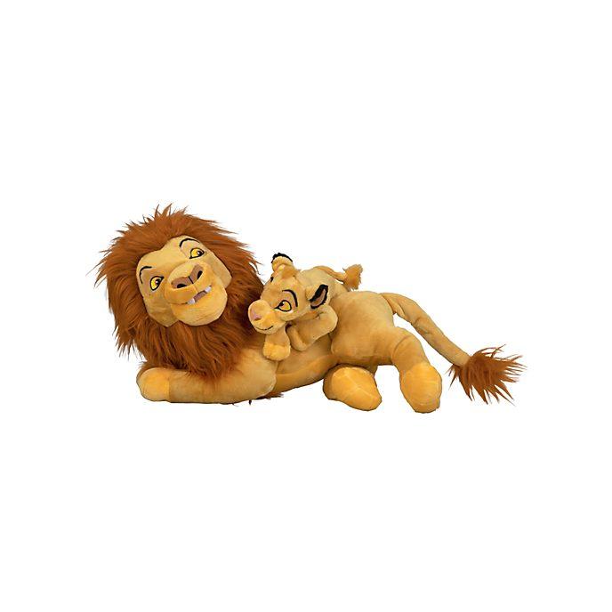 Disneyland Paris Peluche Mufasa et Simba de taille moyenne