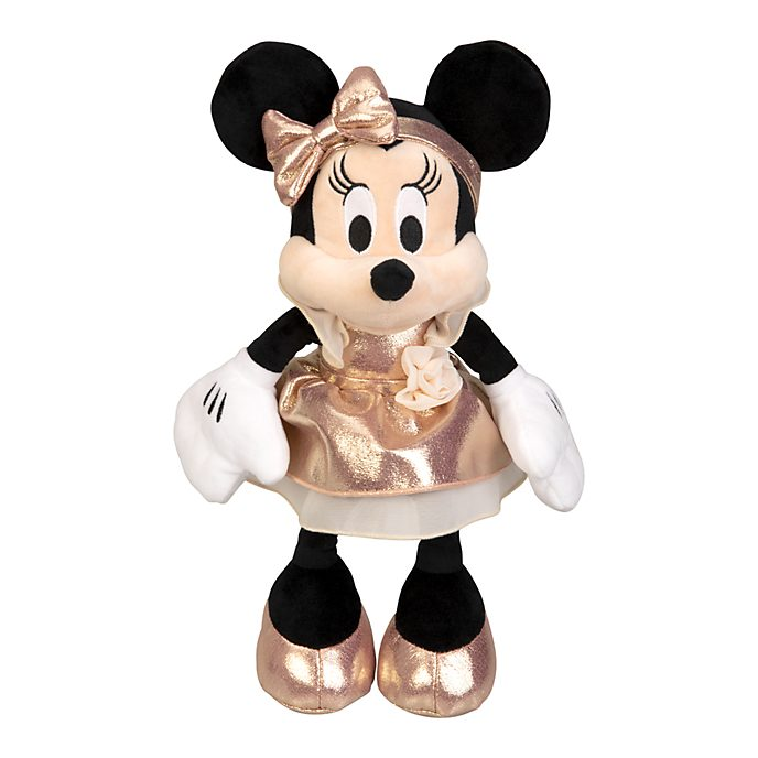 Disneyland Paris Peluche moyenne Minnie Mouse rose doré