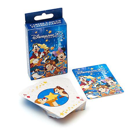 Cartes à jouer 25e anniversaire de Disneyland Paris